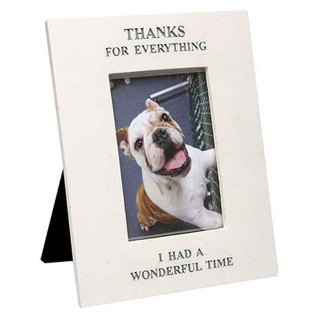 """Thanks for Everything"" Pet Memorial Frame"