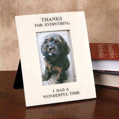 """Thanks for Everything"" Pet Memorial Frame"