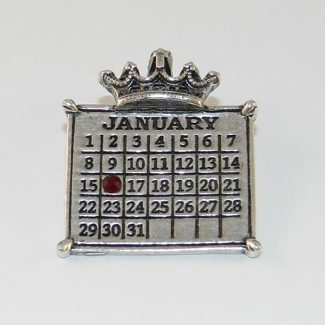 Personalized Calendar Crown Charm