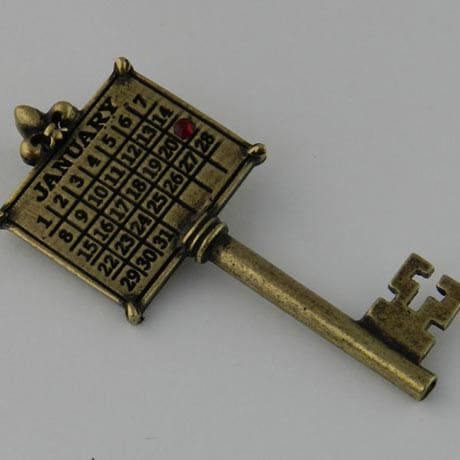 Personalized Calendar Key Charm