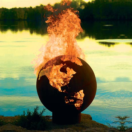 Planet Earth Outdoor Fire Pit