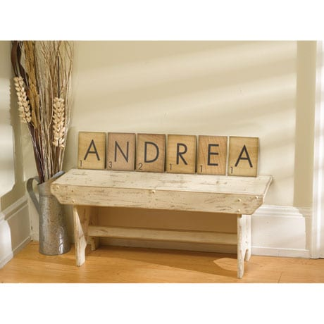 Personalized Game Piece Wall Art - 4 Letters