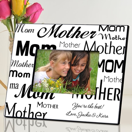 Personalized Mom Frame - B&W