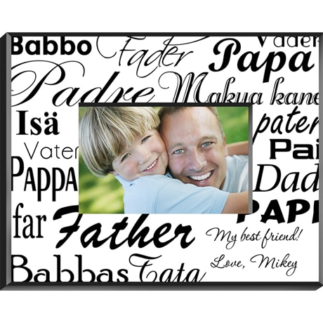 Dad In Many Languages Personalize Frame