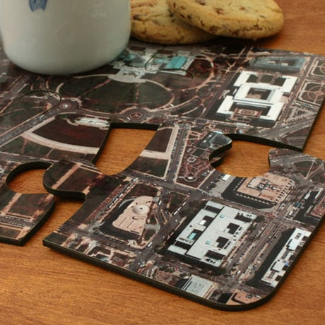 Personalized Hometown Map Coasters Set