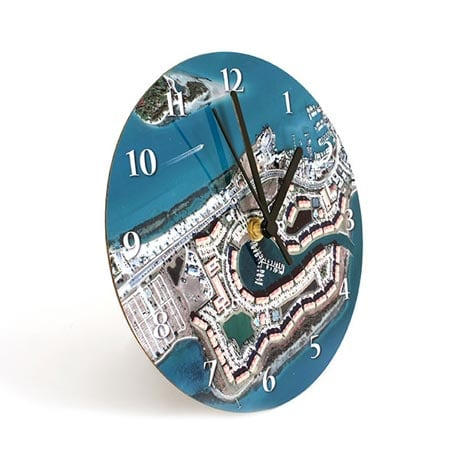 Personalized Hometown Map Clock - 12'
