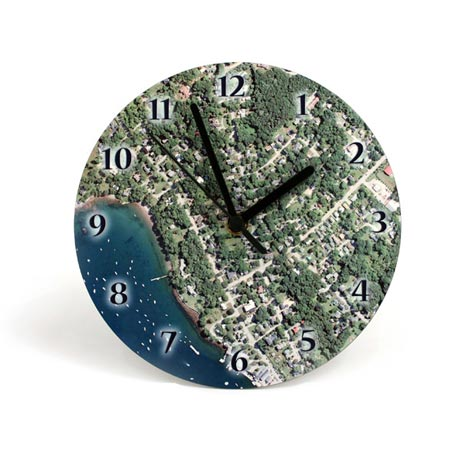Personalized Hometown Map Clock - 8""
