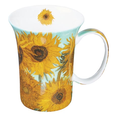 Bone China Van Gogh Mugs Set of 4 in Vibrant Colors