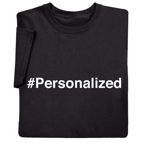 Personalized Hashtag Shirts