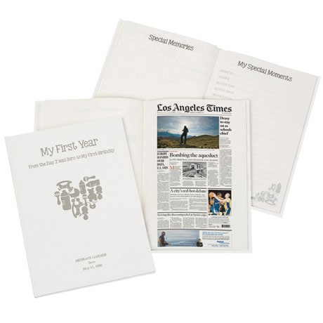 Personalized Baby Book with Birthday Newspaper