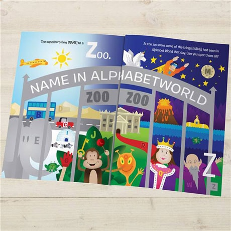 Personalized Alphabet World Hardcover Book