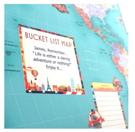 Personalized Bucket List Map