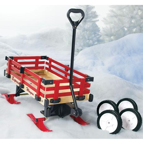 Convertible Sleigh Wagon - with Runners and Wheels