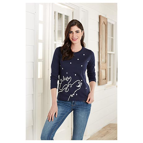 Marushka Moose Lick T Shirt Silkscreened in Michigan