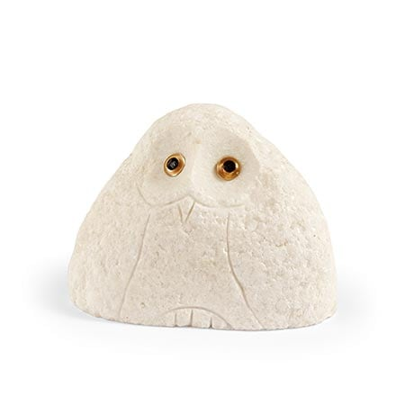 Stone Owls - Medium White