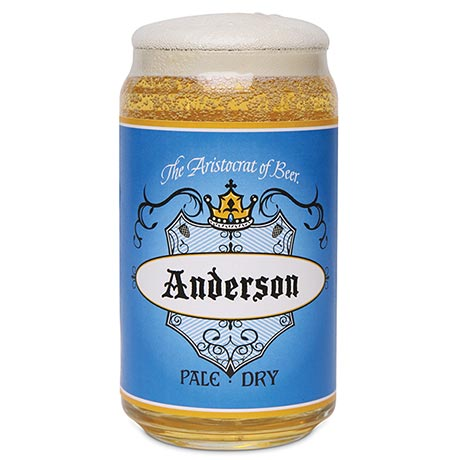 Personalized Beer Can Glass