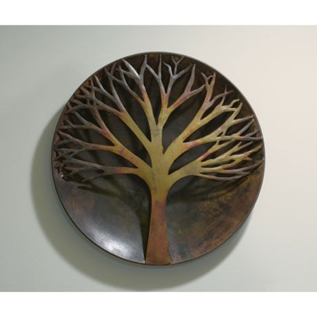 Flamed Copper Tree Wall Art - 12""