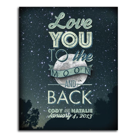 Personalized Love You to the Moon and Back Wall Plaque