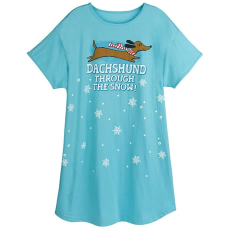 Dachshund Through the Snow Nightshirt