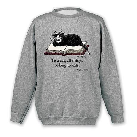 Edward Gorey - 'To A Cat' Sweatshirt