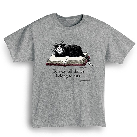 Edward Gorey - 'To A Cat' T-Shirt