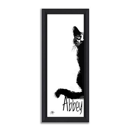 Personalized Cat Print - Framed