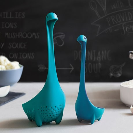 Nessie the Loch Ness Monster Ladles (Original and Mama Colander)