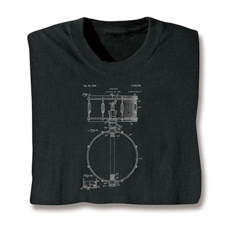 Vintage Patent Drawing Shirts - Drum