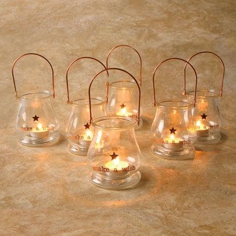 Make a Wish Tea Light Lantern Set of 6