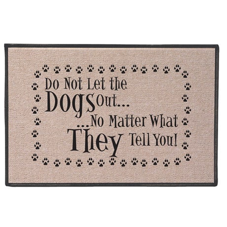 Do Not Let the Dog/Cat Out Doormat