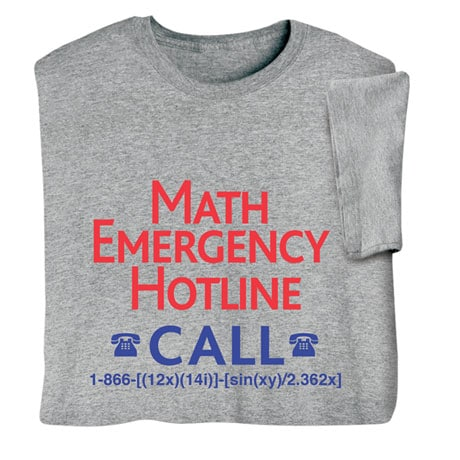 Math Emergency Hotline Sweatshirt
