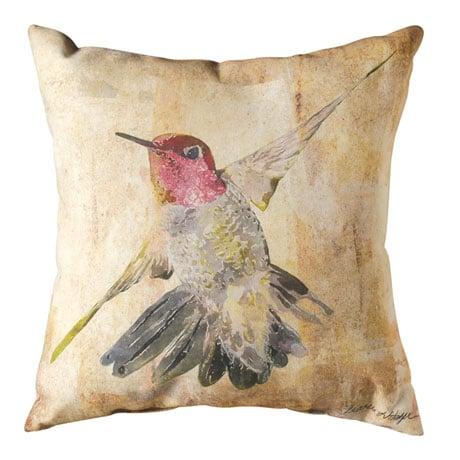Watercolor Hummingbird Indoor/Outdoor Pillows - Flight