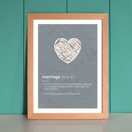 Personalized Marriage Definition Print