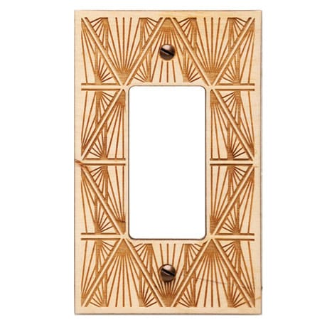 Engraved Wood Switch Plate - Rocker