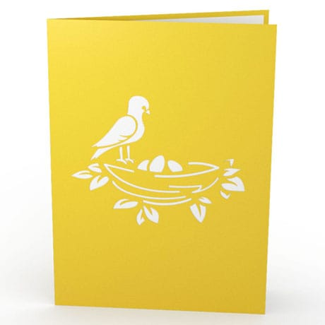 Birds Nest Lovepop Greeting Card
