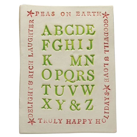 Christmas Alphabet Plaque