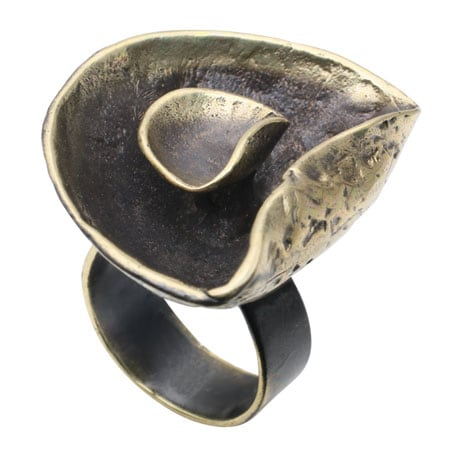 Bronze Lily Pad Ring