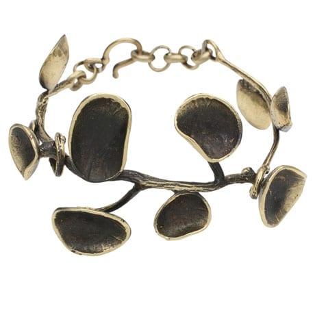 Bronze Lily Pad Bracelet