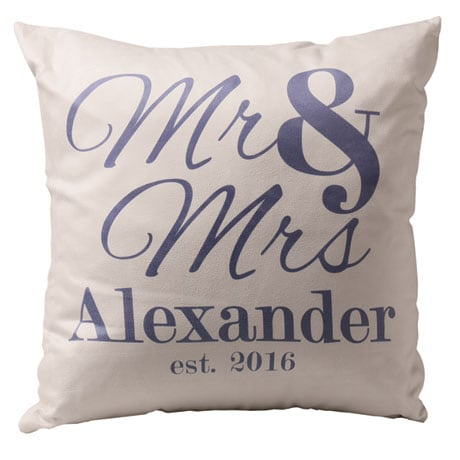 Personalized Mr. & Mrs. Throw Pillow