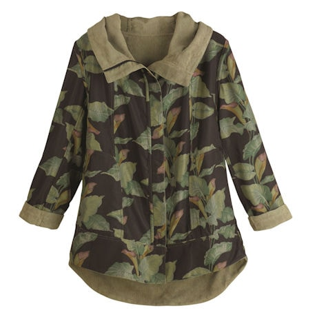 Reversible Corduroy Hooded Jacket