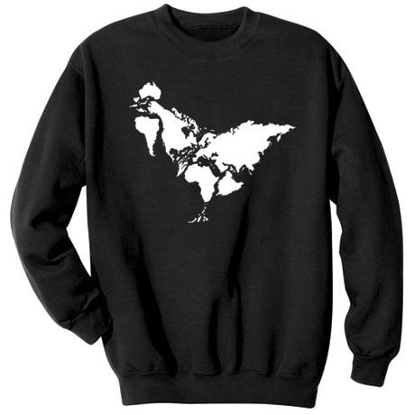World Chicken Map Shirts