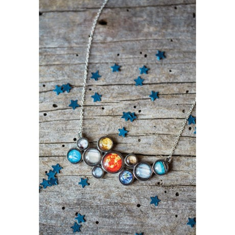 Solar System Cuff Necklace