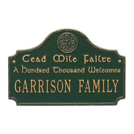 Personalized A Hundred Thousand Welcomes Plaque