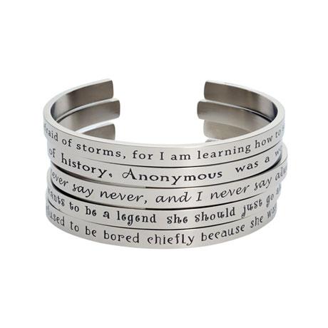 Famous Quotes by Famous Women Cuff Bracelets