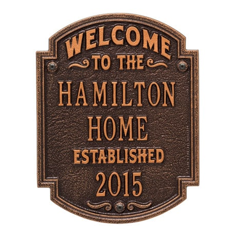 Personalized 'Welcome to Our House' Wall Plaque