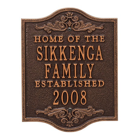 Personalized Buena Vista Anniversary Plaque
