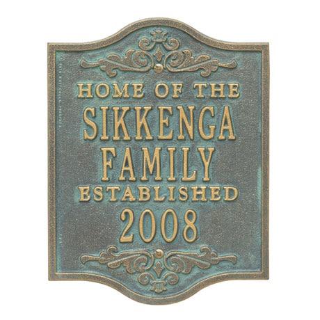 Personalized Buena Vista Anniversary Plaque