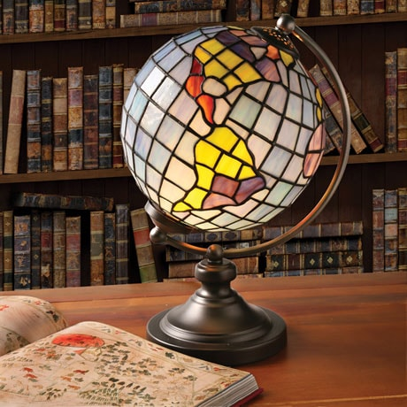 Stained Glass Globe Accent Lamp