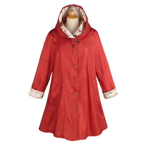 Red Reversible Raincoat