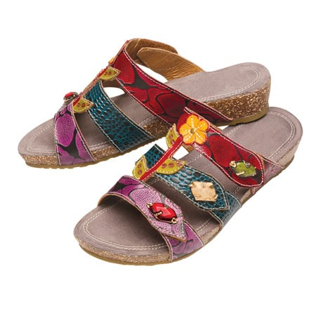 Hand-Painted Aghna Sandals